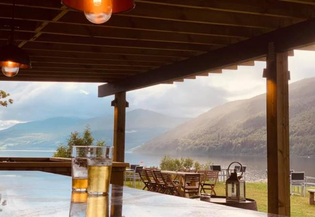 Lochside drinks terrace opens at Loch Tay