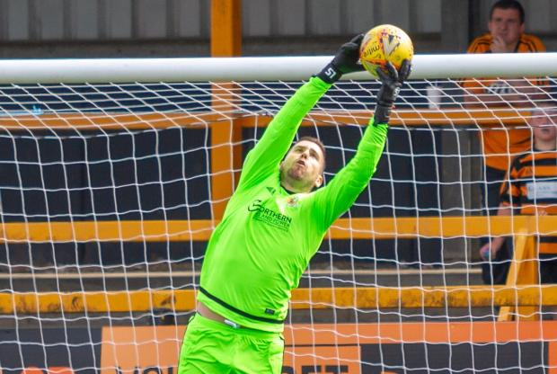 Strathallan Times: Alloa stopper Neil Parry was in fine form as he stepped up his comeback