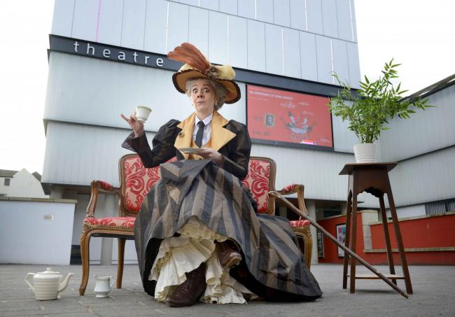 Karen Dunbar as Lady Bracknell - Picture by Colin Hattersley