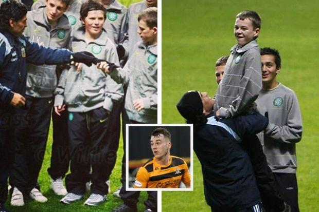 Alloa star Adam Brown (inset) was hailed a hero by Diego Maradona