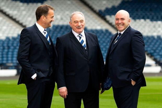 Strathallan Times: Mulraney, right, with Rod Petrie, centre, and Ian Maxwell
