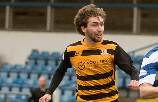 Ray Grant in action for Alloa earlier this season. Picture by Alex Craig