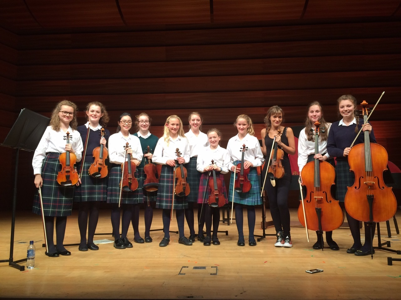 Caecilia stapper, Lucy Whitaker, Victoria Yeung, Lissie Cook, Iona Aldridge, Iona Godfrey-Faussett, Niamh Kelly (Ardvreck School), Alannah Grieve, Nicola Benedetti, Sophie Leaver and Susie Dougall
