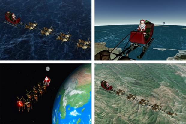 Track Santa as he travels across the world on Christmas Eve