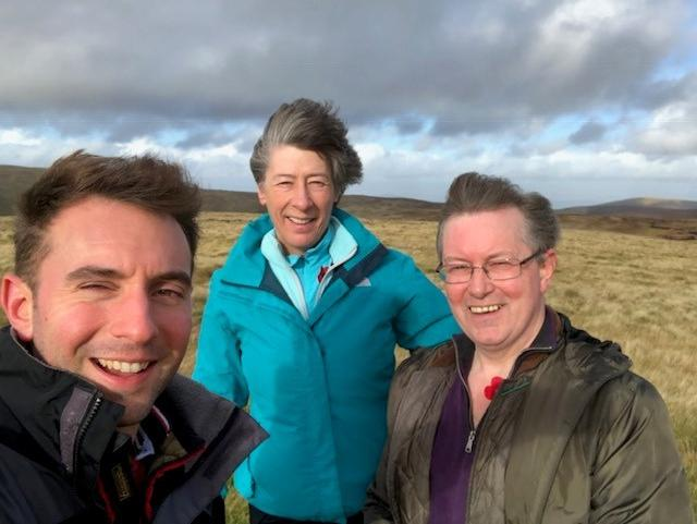 HIGH WINDS: MP Luke Graham joined MSPs Liz Smith and Alexander Stewart on an ascent to Craighorn as part of the 1918 Poppy Scotland Pledge