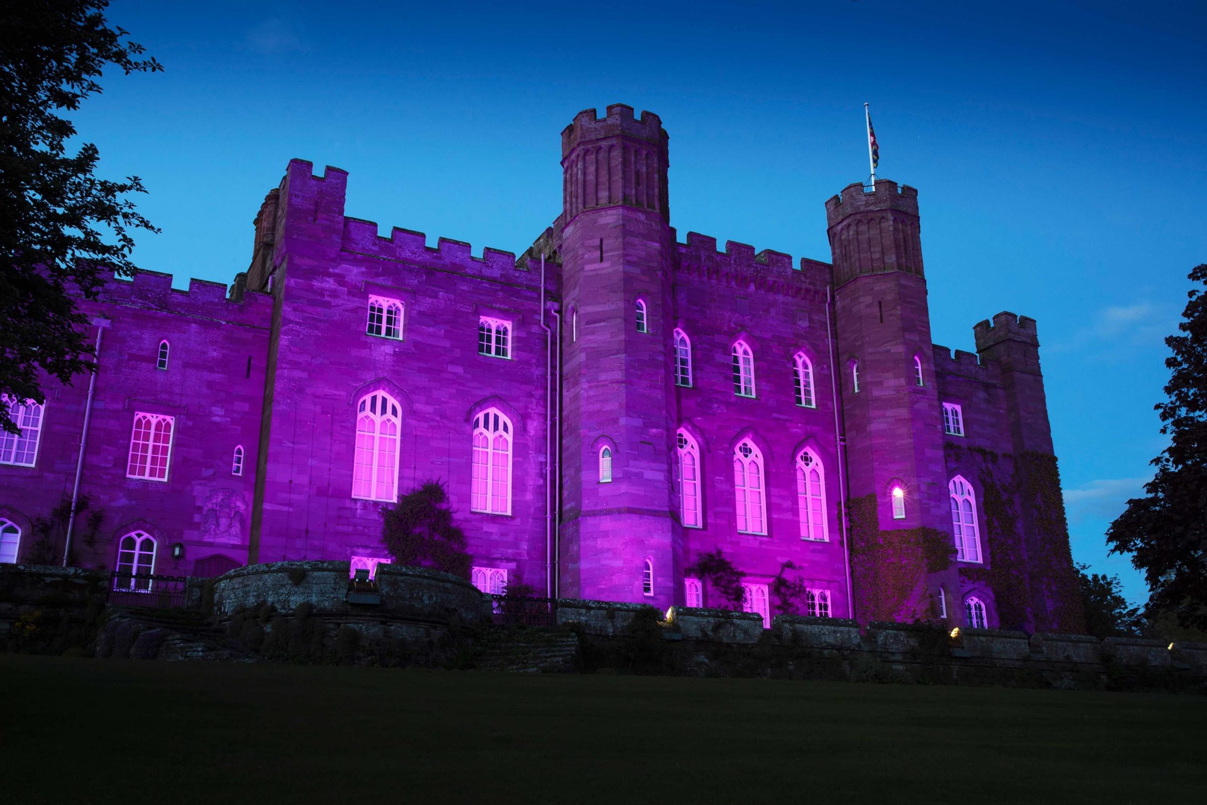 Scone Palace in purple - Picture by Graeme Heart