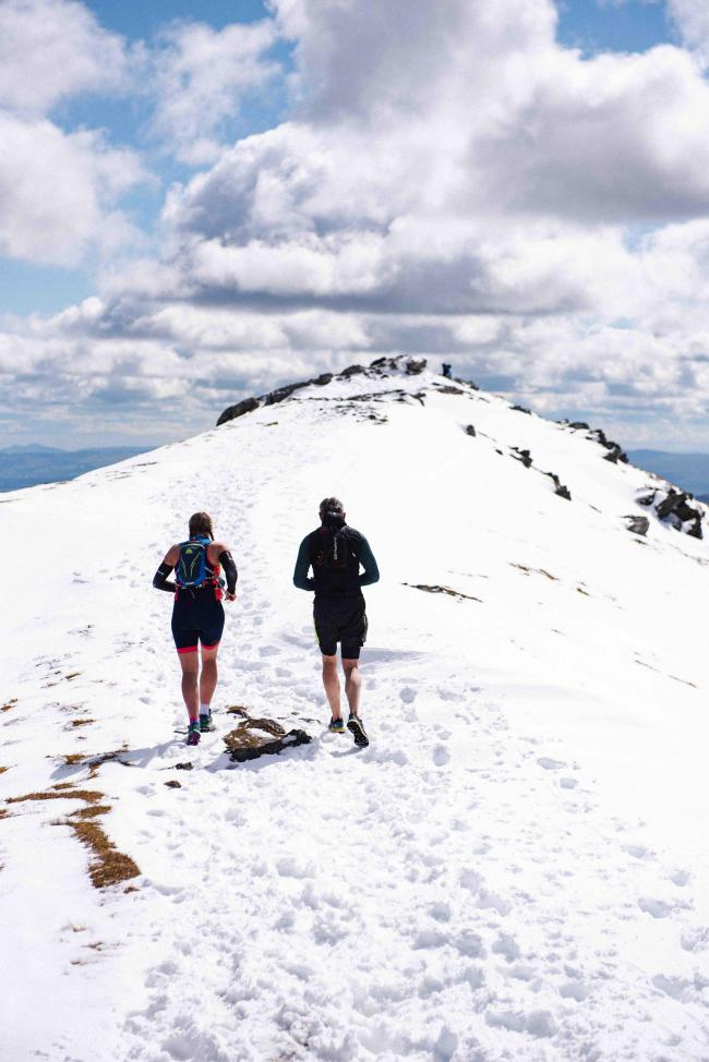 The race took participants over the snow caps of Ben Vorlich